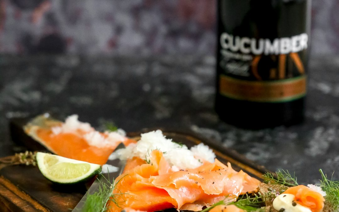 Smoked Salmon with Cucumber and Gin Granita