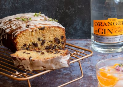 Ginger and orange gin drizzle cake
